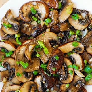 Mushroom and Garlic Saute (Paleo, Gluten Free).
