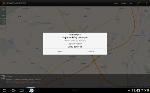 Dopravný servis Rádia Expres - screenshot thumbnail