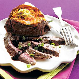 Mustard-Molasses Flank Steak.