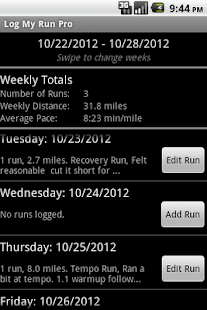 Log My Run Pro- screenshot thumbnail