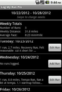 Log My Run Pro - screenshot thumbnail