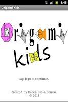 Screenshot of Origami Kids