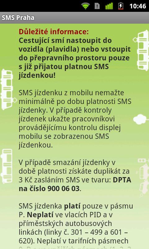 SMS Praha- screenshot