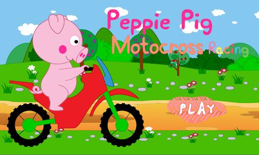 Peppie Pig Motocross Racing