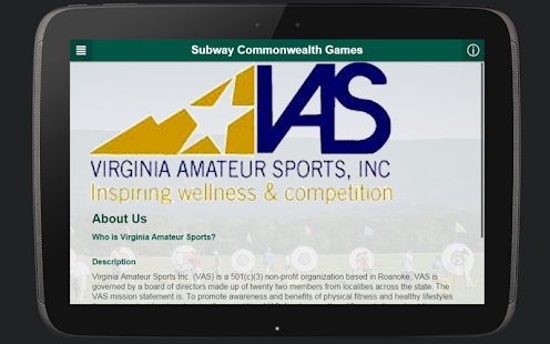Virginia Amateur Sports- screenshot thumbnail