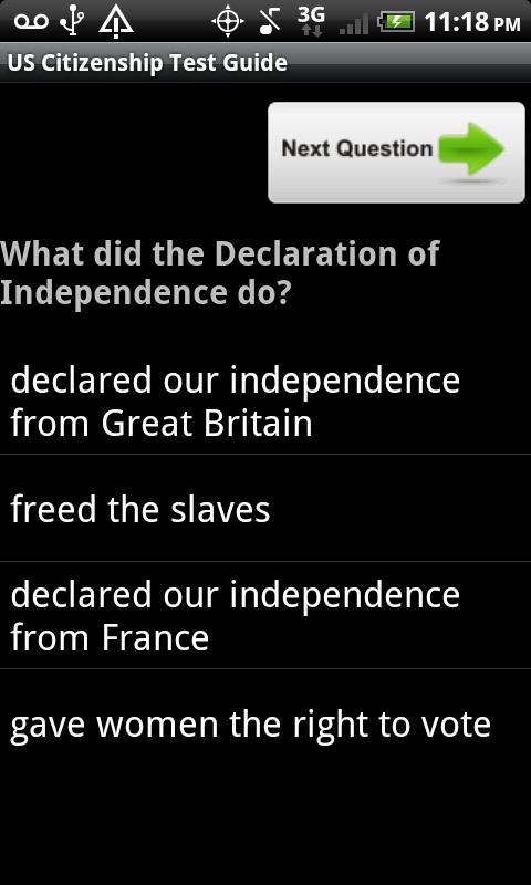 US Citizenship Test Guide 2013 - screenshot
