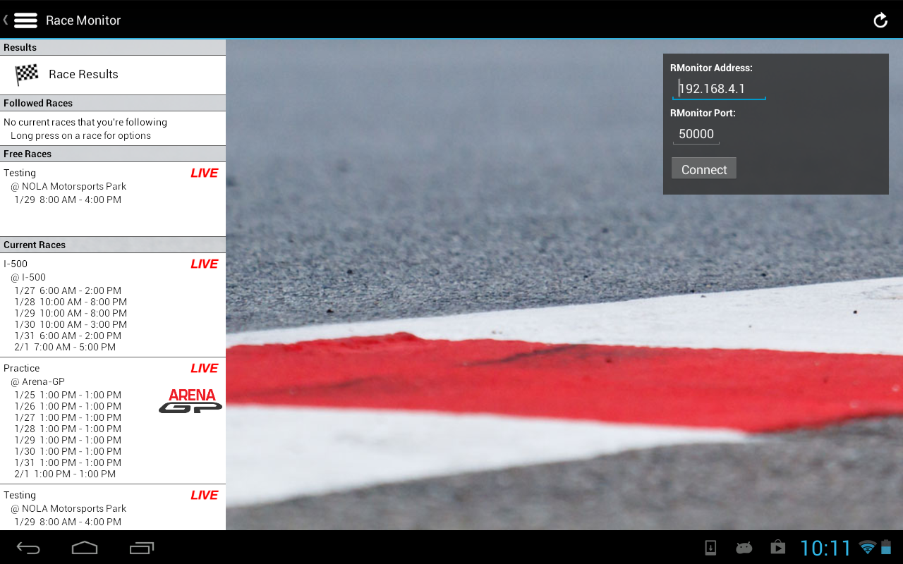 Race Monitor - screenshot
