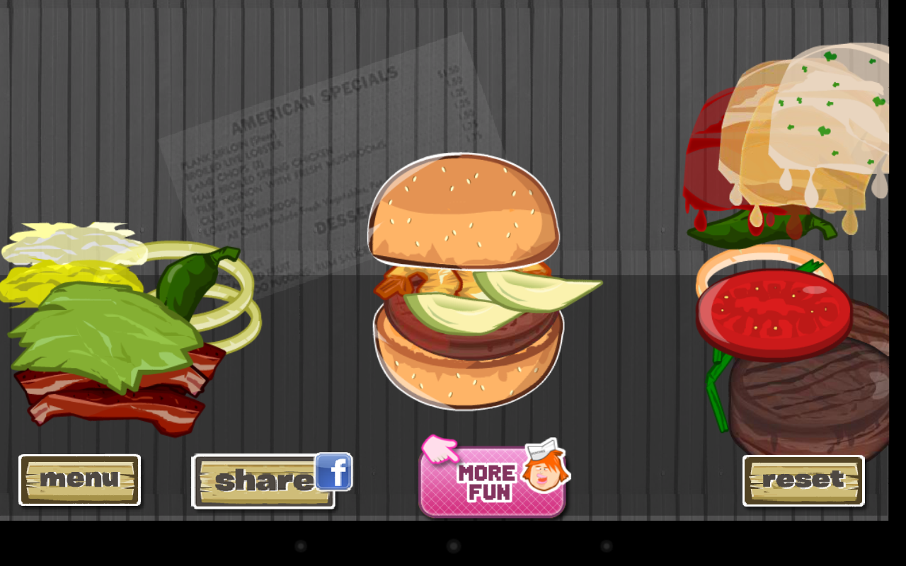 Hamburger Designer - screenshot