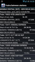 Screenshot of PNR status and train info