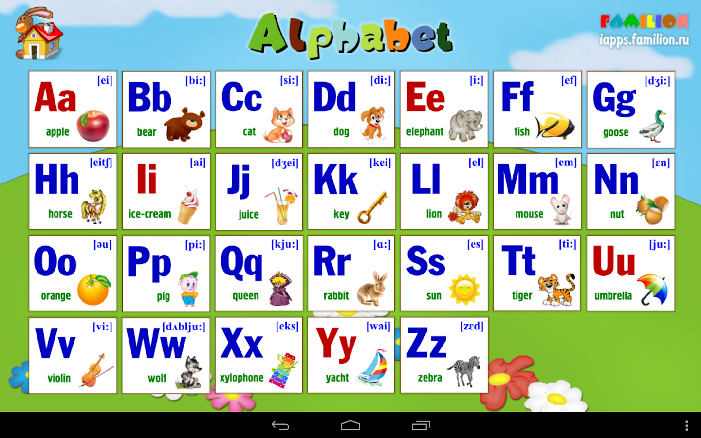 V deo de the english alphabet song