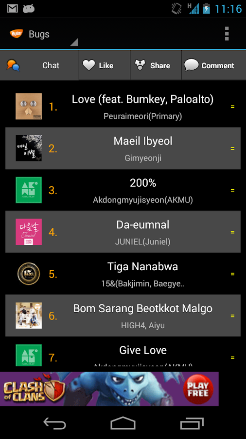 Realtime Music Rank - screenshot