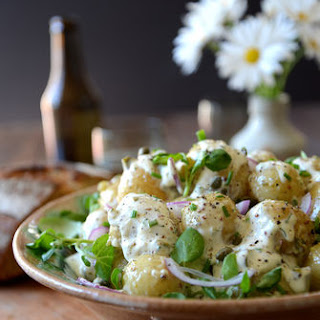 Potato Salad with Garlcky Herb Dressing