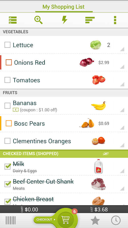 Grocery King Shopping List - screenshot