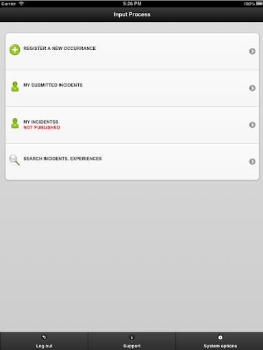 Input Process Mobile APP