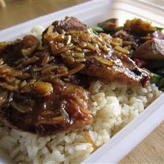 Cola Onion Pork Chops.