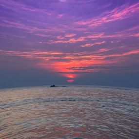 Sunset by Musaab Sami Al-Obeidy - Landscapes Sunsets & Sunrises