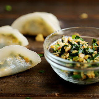 Vegan Chives and Tempeh Dumplings