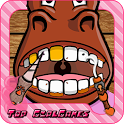 Crazy farm animal dentist girl icon