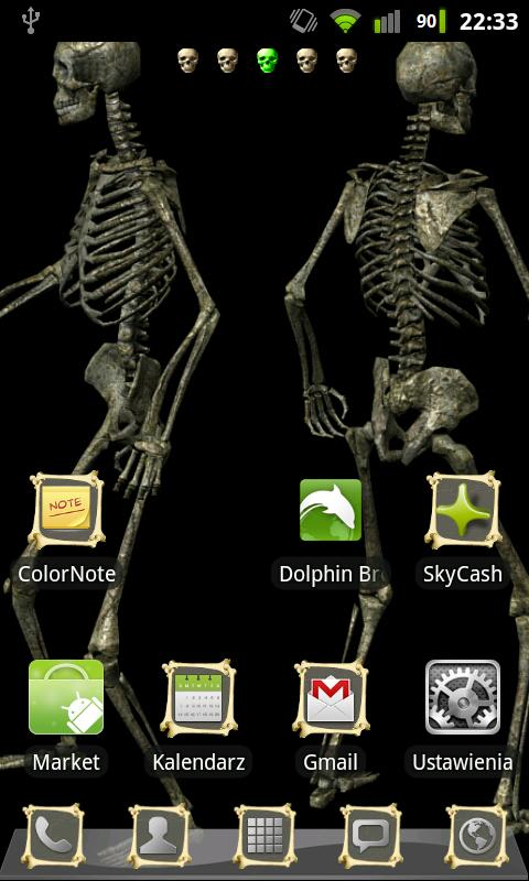 GO Launcher EX Theme Bones - screenshot