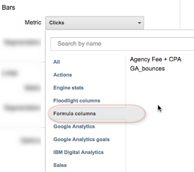 Use the formula column in reports that span mutliple advertisers.