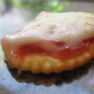 Microwave Cracker Pizzas.