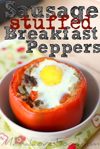 Sausage Stuffed Breakfast Peppers.