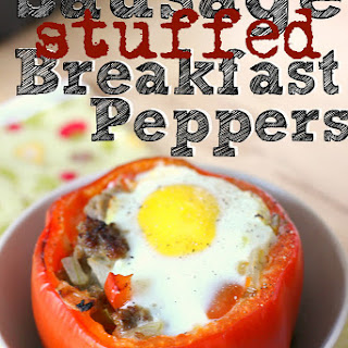 Sausage Stuffed Breakfast Peppers..