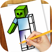 Download Learn to Draw Minecraft APK on PC