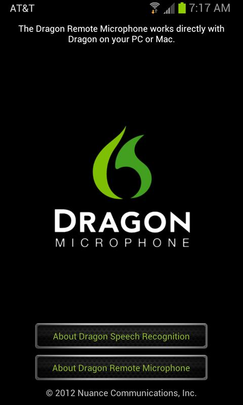 Dragon Remote Microphone - screenshot