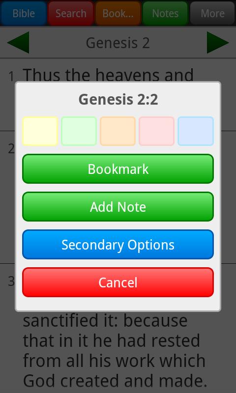 Holy Bible, King James Version - screenshot