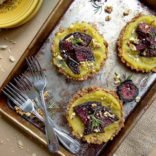 Farro Crusted Sweet Dumpling Squash Tartlettes