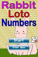 Screenshot of RabbitLotoNumbers
