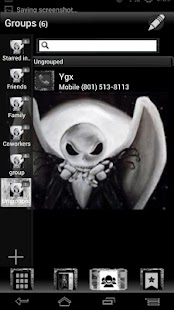 Go Contacts EX Nightmare Theme - screenshot thumbnail