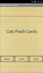 Calculus Integral Flashcards - screenshot thumbnail