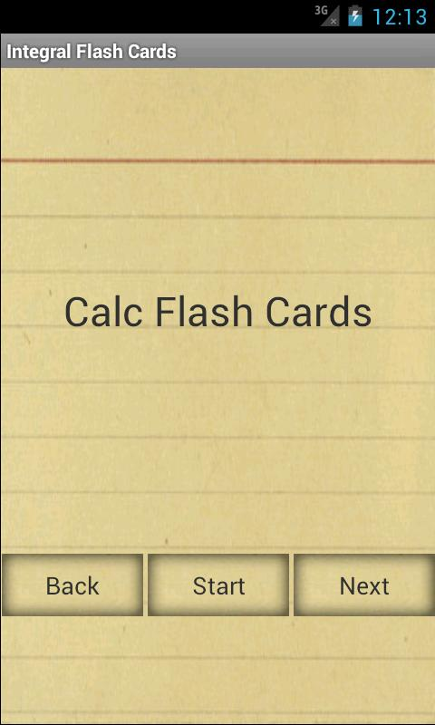 Calculus Integral Flashcards - screenshot