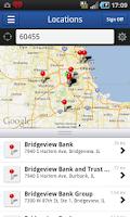 Screenshot of Bridgeview Mobile Banking