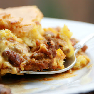 Beef, Bean and Cheese Casserole.