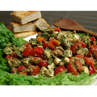 Feta Cheese with Basil Salad