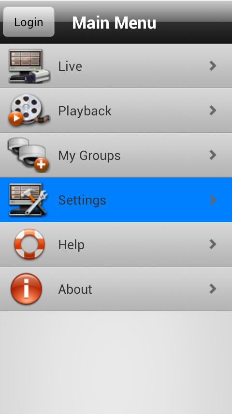 Unisight Mobile Client- screenshot