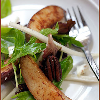 A Pear, Endive and Caramelized Pecan Salad