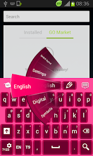 Pink Gemstone Keyboard - screenshot thumbnail