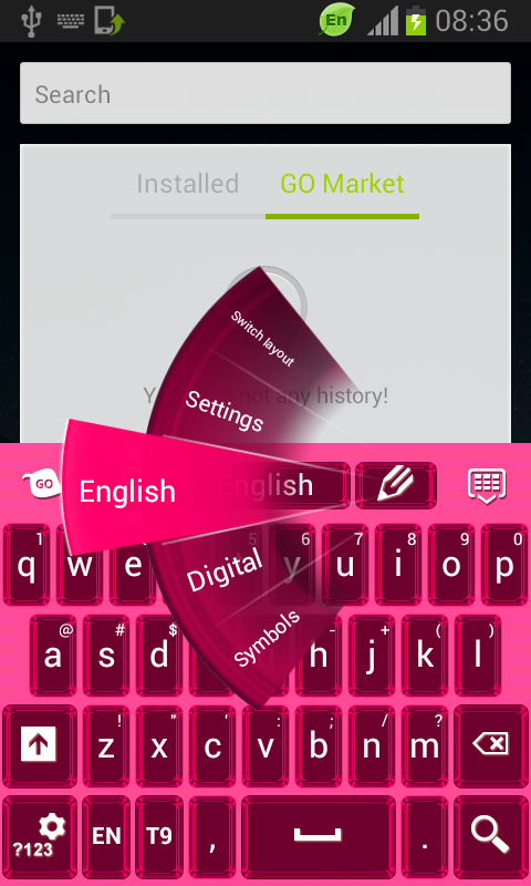 Pink Gemstone Keyboard - screenshot
