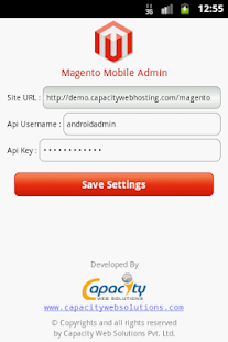 Magento Admin - screenshot thumbnail