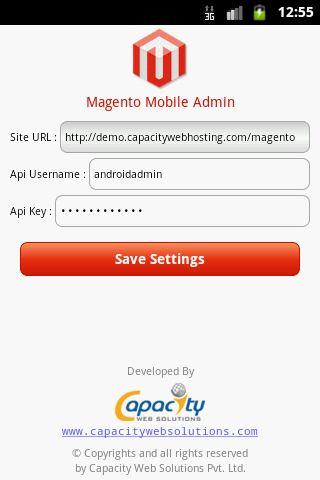 Magento Admin - screenshot