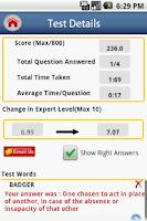 Screenshot of IntelliVocab for SAT,GRE,GMAT