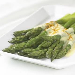 Asparagus with Orange Hollandaise Sauce.