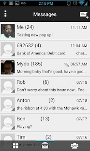 GoogleUI ICS Go Sms Theme - screenshot thumbnail