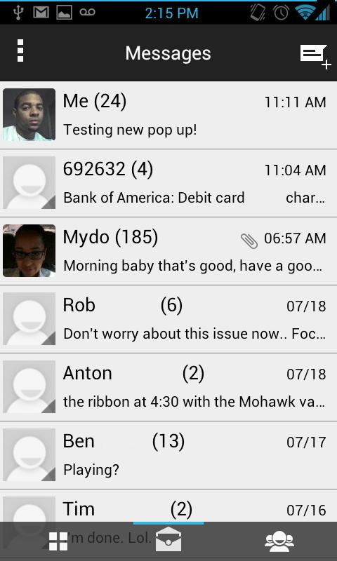 GoogleUI ICS Go Sms Theme - screenshot