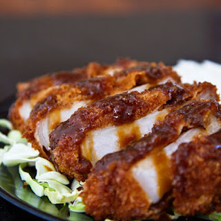 Miso Katsu (Breaded Pork Cutlet with Red Miso Sauce).