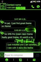 Screenshot of Green neon theme GO SMS Pro